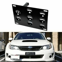 JDM Bumper Tow Hook License Plate Mounting Bracket For 2008-2014 Subaru WRX STi