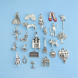 Deluxe Wizard of Oz Charm Collection Antique Silver Tone 23 Charms COL297 $7.24