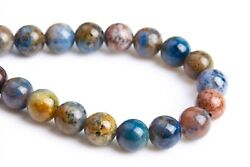 6MM Natural South Africa Blue Dumortierite Grade AAA Round Loose Beads 7.5