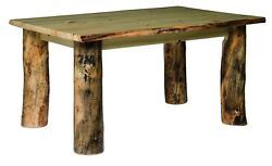 Rustic Aspen Log Dining Table - Various Sizes - Amish Made in the USA