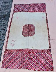 ANTIQUE ORIGINAL PERFECT ASIAN PESTUNI COTTON AND SILK TEXTILE