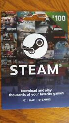 $100 video. gaming card from STEAMOS $90.00