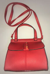 Olivia and Joy Red  Flap Top Women's Purse w detachable strap -NWT