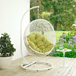 Modway Furniture Hide Outdoor Patio Swing Chair in White Peridot