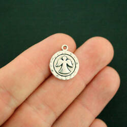 10 Angel Charms Antique Silver Tone - SC2800 $3.49