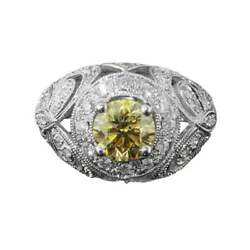 Amazing Champagne Diamond Fancy Solitaire Ring