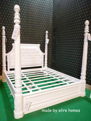 BESPOKE Any Colour Any Size Baroque Chatelet® Four Poster mahogany wood Bed