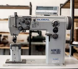 FGlobalAdler Industrial Sewing Machine Post Bed Double Needle Auto thread trim
