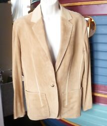 HERMES PARIS Lambskin Suede and Leather Jacket Size 44 or size 8
