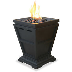 UniFlame LP Gas Fire Pit Tabletop Column Fireplaces Heating Heater Deck Patio
