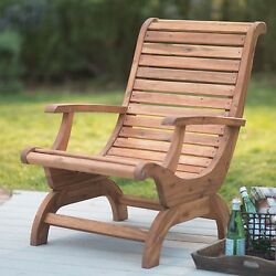Natural Finish Adirondack Patio Chair Outdoor Home Seating Furniture Garden Deck