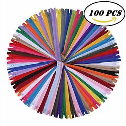 12 Inch Zippers Nylon Coil Bulk Supplies for Tailor Sewing Crafts Pack of 100