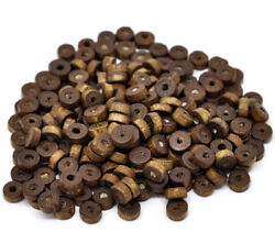 50 Wood Beads Natural Wooden Spacer Rondelle Beads BD680 $3.44
