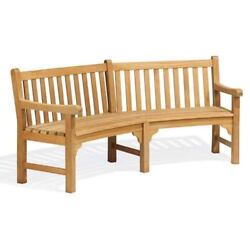 Oxford Garden Essex Curved 83-Inch Bench - EXC83