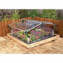 Outdoor Mini Greenhouse Cold Frame Kit Double Door Garden Plant Cover 7 ft Space