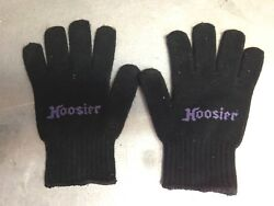 racing pit gloves hoosier adult male gloves logo black twill cloth material $19.99