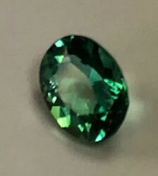 TOURMALINE  NATURAL GREEN FACETED CLARITY I1 1.10 CT 1-PC M032 $600.00