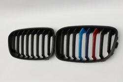 New 2Pcs For BMW 1 Series F20 12-14 Front Grille Matte Black ABS 3Color Slat