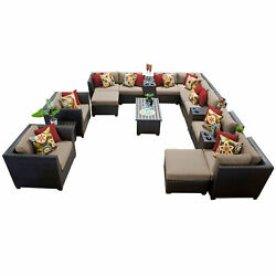 Patio Furniture Set Garden Furniture Outdoor Sofa Loveseat Chair 17pcs Wicker