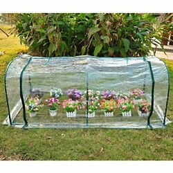 Outdoor Portable Mini Greenhouse Plant Cover PVC Steel Growhouse 7x3 ft Backyard