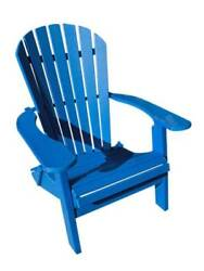 Phat Tommy Recycled Poly Resin Folding Deluxe Adirondack Chair in Blu [ID 37431]