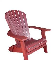 Phat Tommy Recycled Poly Resin Folding Deluxe Adirondack Chair in Dar [ID 37432]