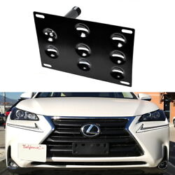 JDM Bumper Tow Hook License Plate Mount Bracket For 2015-up Lexus NX200t NX300h