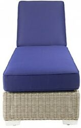 Patio Heaven SB-2987-GSR-5439 Palisades Chaise Lounge in Canvas Fabric Navy