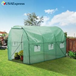 Walk in Greenhouse w Clear Cover Portable Indoor Outdoor Garden Plants Protect