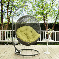 Modway Furniture Hide Outdoor Patio Swing Chair in Gray Peridot