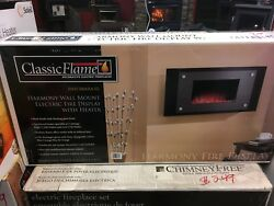 Classic Flame Electric 35HF500ARA-02 Harmony Wall Hanging Fireplace - Free Ship