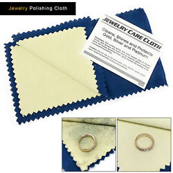 Jewelry Cleaning Polishing Cloth Instant Shine amp; Protects Gold Silver Brass $1.99