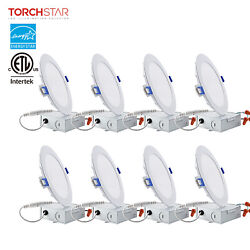 TORCHSTAR 12W Ultra thin 6quot; Dimmable LED Recessed Ceiling Downlight Wafer Light $65.99