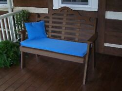 Poly Furniture Wood 4 Foot  MARLBORO GARDEN BENCH *BROWN COLOR* 4 Ft Bench