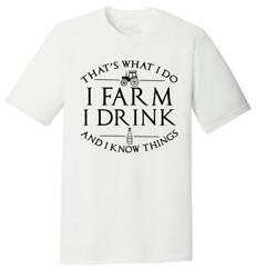 Mens That#x27;s What I Do I Farm Drink Know Things Tri Blend Tee Country Tv Graphic $17.32