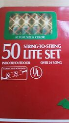 Strings of 50 clear  lights 24' long wedding holidays or patio  four box's IOB