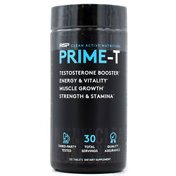 RSP Nutrition Prime T Natural Test Booster Build Lean Muscle Mass (120 Tabs)
