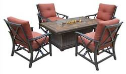 6-Pc Gas Firepit Table Deep Seating Chat Set [ID 3684339]