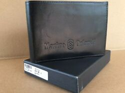 MARINO ORLANDI ITALIAN LEATHER MEN'S WALLET WITH BOX
