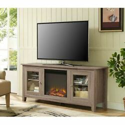 Walker Edison Furniture Co. 58-inch Fireplace TV Stand with Doors - W58FP4DWAG
