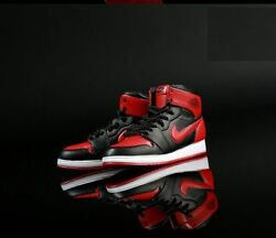 1 6 Men Shoes Nike Air Sneakers Red Black For Phicen Hot Toys Male Figure ❶USA❶ $16.75