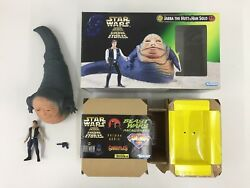 STAR WARS POWER OF THE FORCE POTF JABBA THE HUTT & HAN SOLO OPEN KENNER 1997