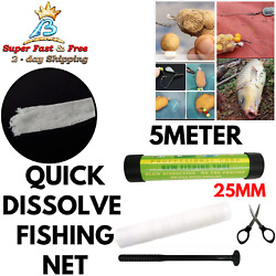 Carp Fishing Stocking Solid Bait PVA Fine Mesh Refill Bag Funnel Plunger Tools $20.47