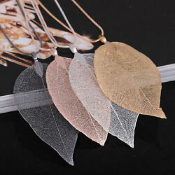 Women Fashion Jewelry Leaves Leaf Sweater Pendant Long Chain Necklace New *USA