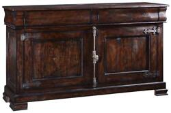 SIDEBOARD PHILIPPE NATURAL WOOD DISTRESSED RUSTIC PECAN CREMONE HARDWARE