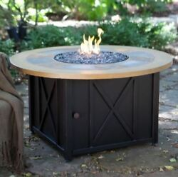 Patio Fire Pit Table Outdoor Gas Fireplace LP Propane Heater Furniture