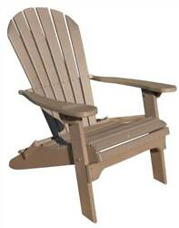 Phat Tommy Recycled Poly Resin Folding Adirondack Chair [ID 89312]