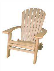Phat Tommy Recycled Poly Resin Folding Deluxe Adirondack Chair in Tan [ID 37436]