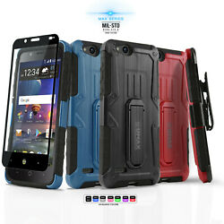 for ZTE BLADE VANTAGE [MAX Series] Phone Case Cover & Holster +Tempered Glass
