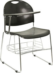 Plastic Chair With Right Handed Flip-Up Tablet Arm And Book Basket